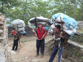 HC Coaching and Mentoring. Porters carrying supplies to Khumbu